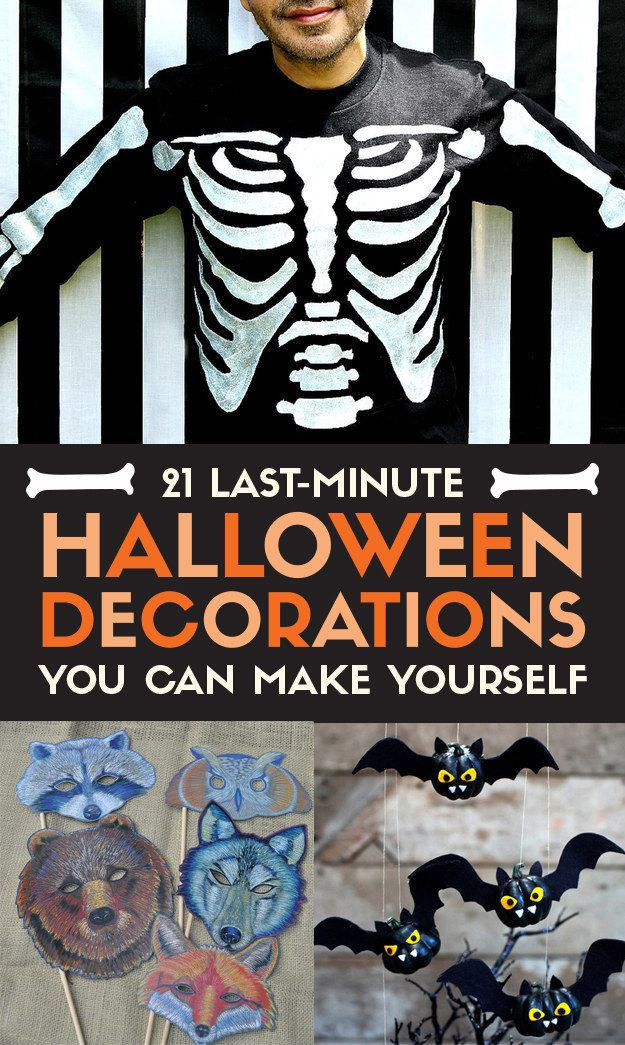 21 Last-Minute Halloween Decorations You Can Make Yourself ...