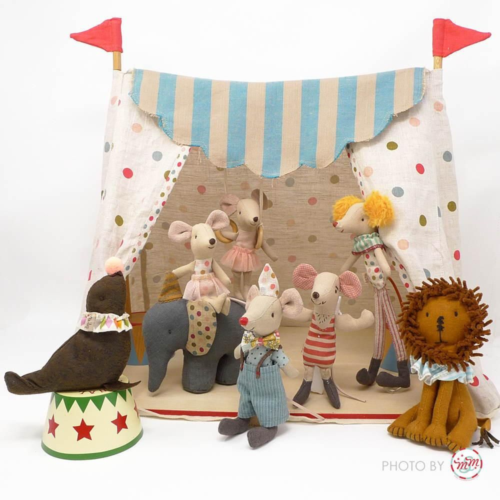 Maileg Circus Tent with 3 Circus Characters & Maileg Circus Tent with 3 Circus Characters | Doll toys Dolls and ...