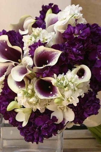 30 Purple Blue Wedding Bouquets