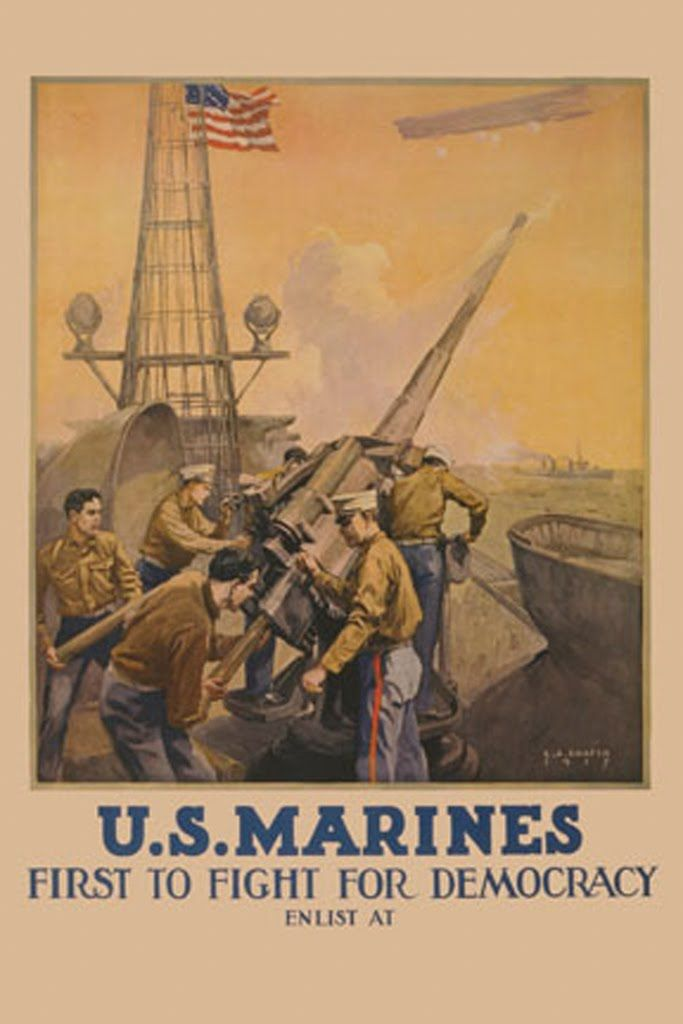 US Marines - First to Fight for Democracy, by Leon Alaric Shafer