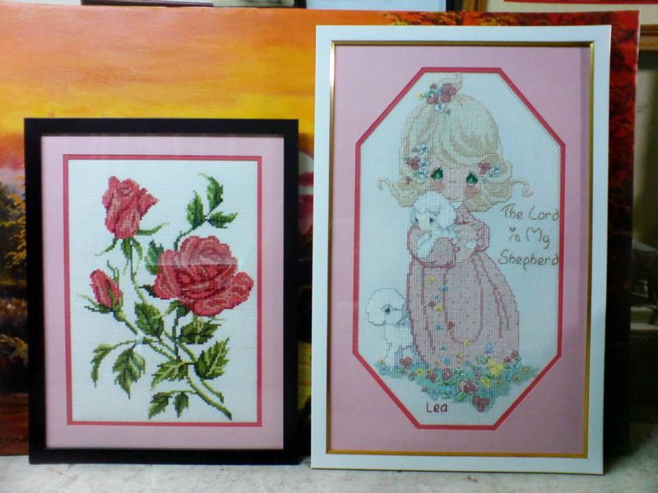 Rose single frame, double matting 13\