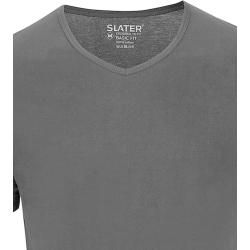 Photo of Slater 2er-Pack Basic Fit T-shirt V-Ausschnitt Schwarz