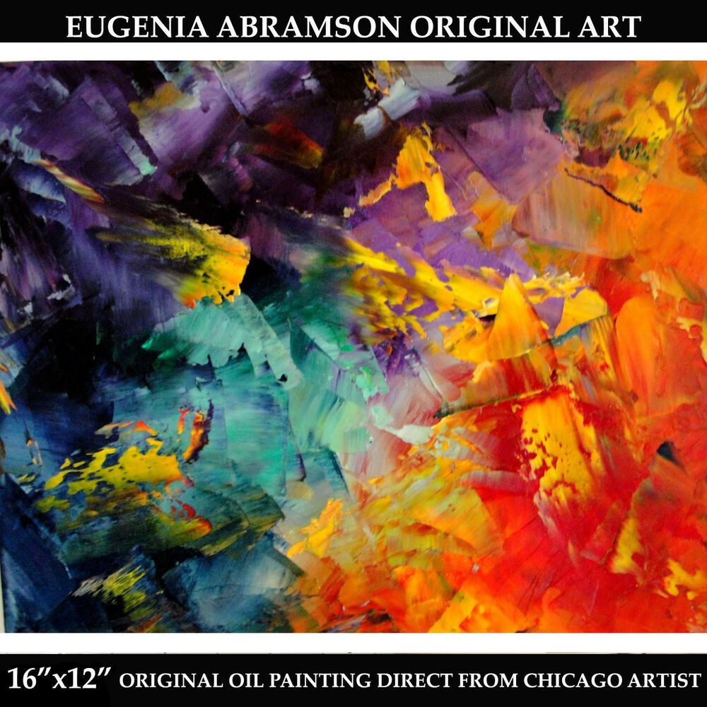 Abstract Art Original Oil Knife Texture Painting Canvas 16