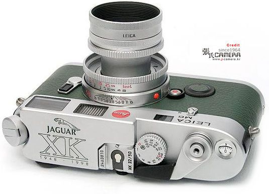 Leica M6 Jaguar XK50 1948~1998 Special commemorative edition with chrome ELMAR-M 1:2.8/50mm with special engraving