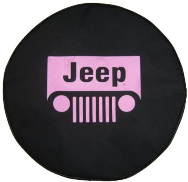 Sparecover Brawny Series Jeep Classic 32 Pink Logo Tire Cover Pink Jeep Jeep Wrangler Tire Covers Jeep