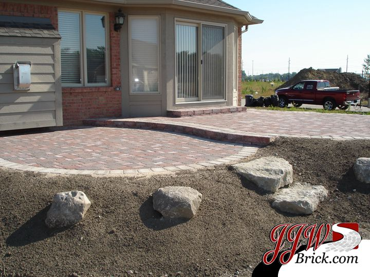 paver patio on a slope google search
