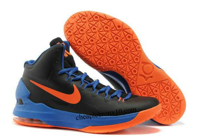 size 40 e03f9 6d0ef KD 5(V) GS - Black   Photo Blue - Team Orange