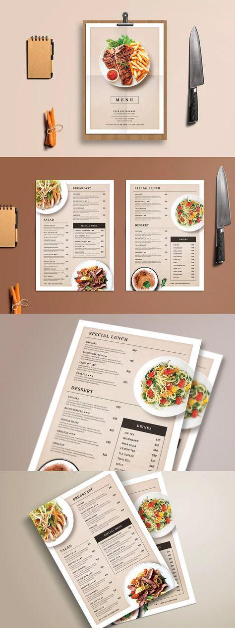 Modern Restaurant Food Menu Template Psd  Hamburgusia