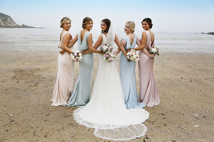 Cheap Wedding Dresses Albuquerque: Country Cornish Pastel Beach Wedding