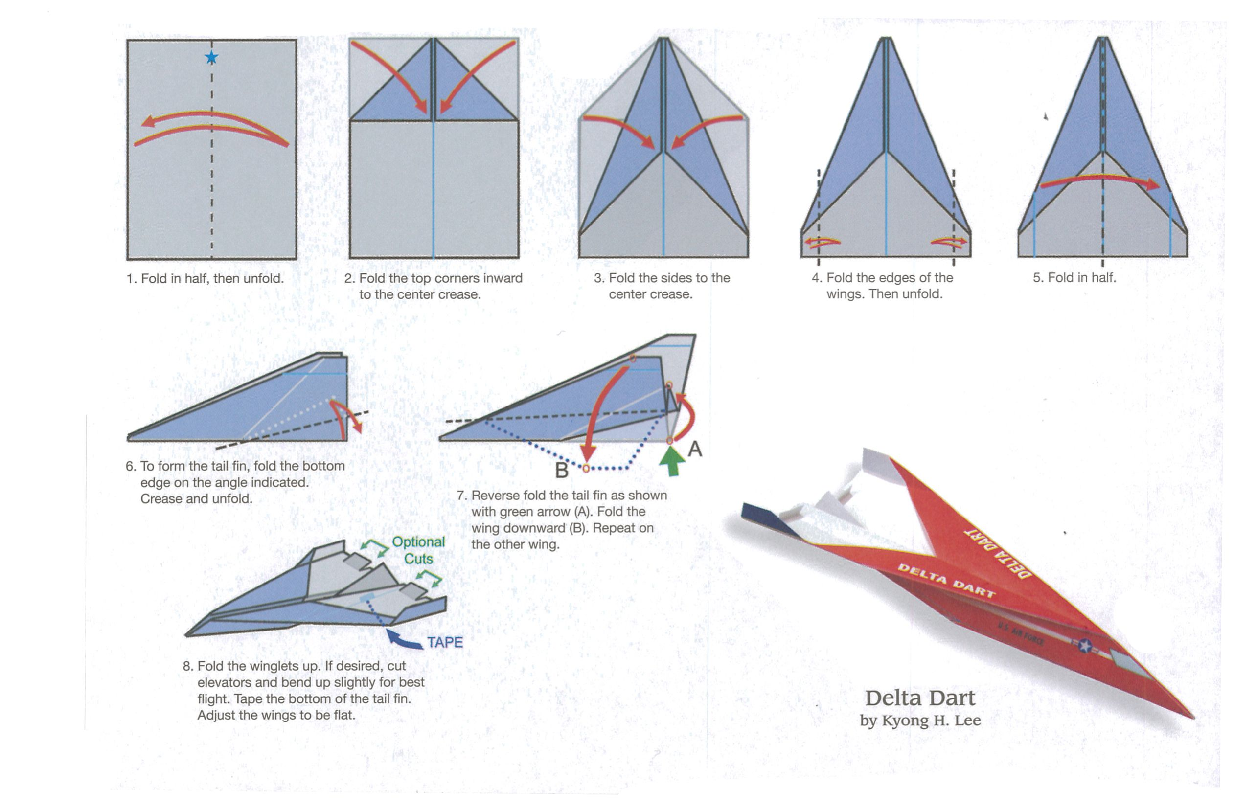 Pin by Gaba on paper planes | Paper airplanes instructions ... - photo#41