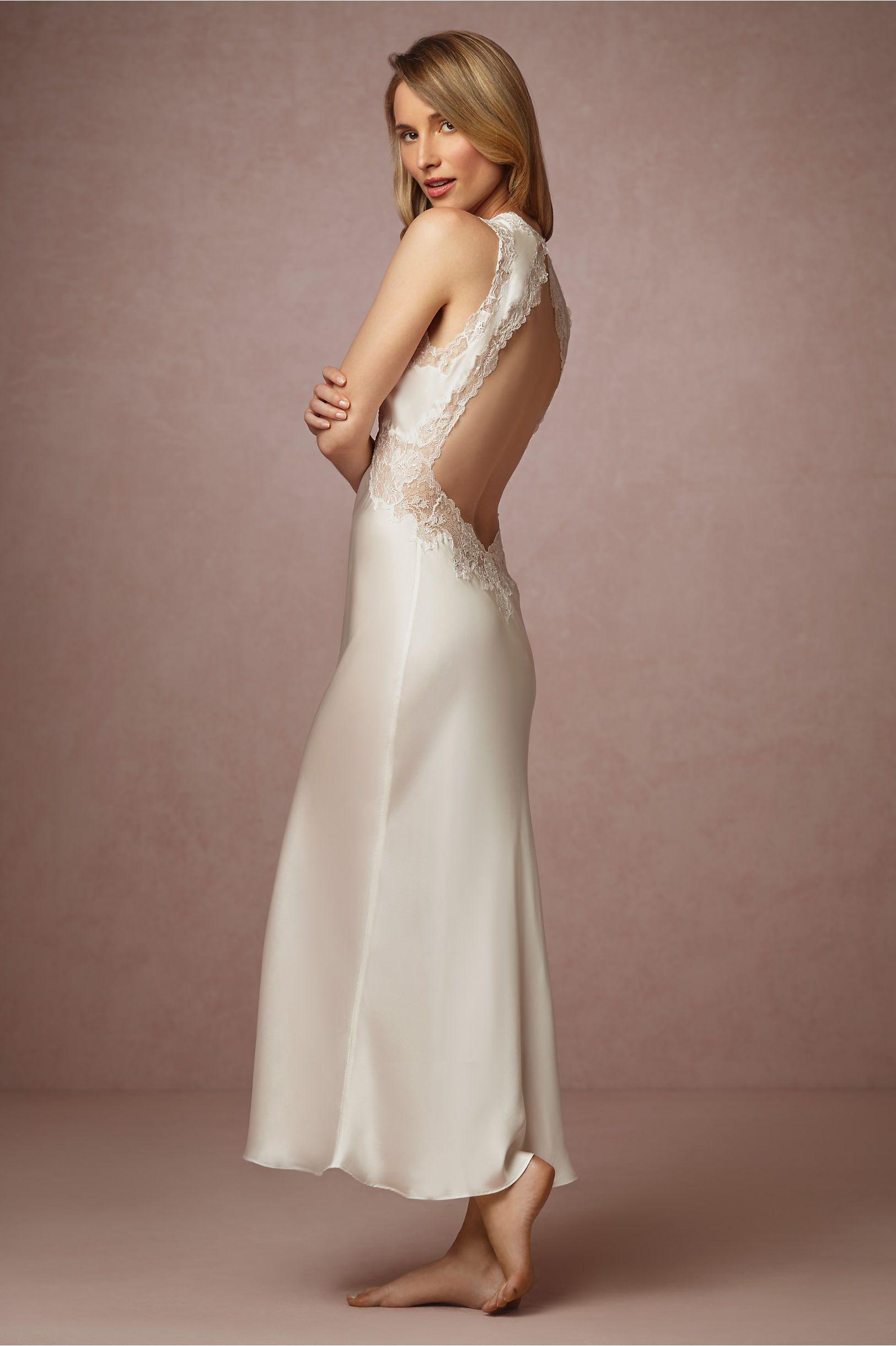 Henriette Open Back Lingerie Gown from @BHLDN   Bridal Boudoir ...