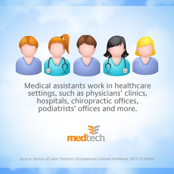 Medical assistants work in healthcare settings such as physicians - med tech resume
