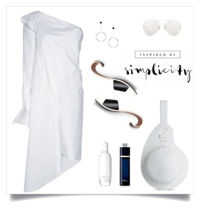 """simplicity"" by tato-eleni ❤ liked on Polyvore featuring Clinique, Linda Farrow and Christian Dior"