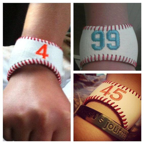 Custom Embroidered Baseball and Softball Bracelets by SKLC3Design, $20.00