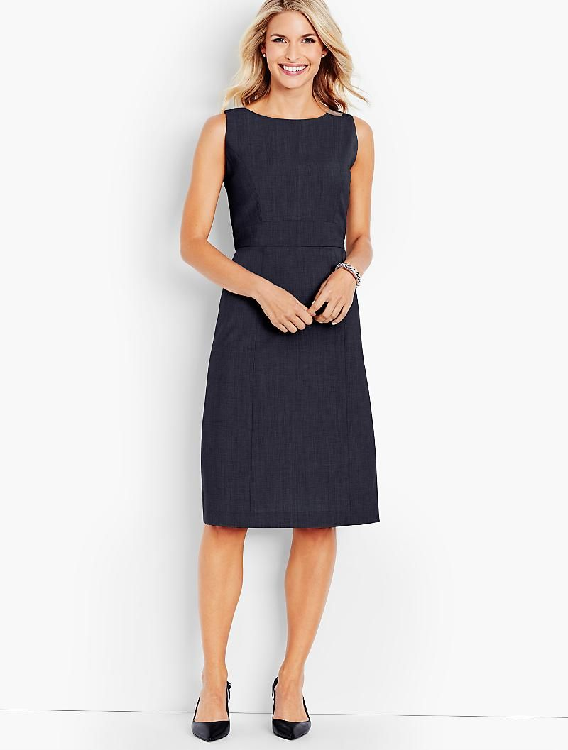 89e5bca2 Seasonless Wool A-Line Sheath - Talbots | Clothing | Pinterest ...