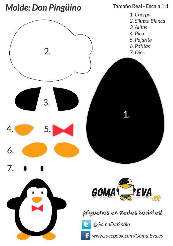 http://www.goma-eva.es/molde-fofucha-don-pinguino/ | animales ...
