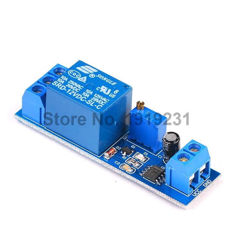 1 Adet Dc 12 V Gecikme Role Kalkani Ne555 Zamanlayici Anahtari Ayarlanabilir Modul 0 10 S Timer Electrical Equipment Relay