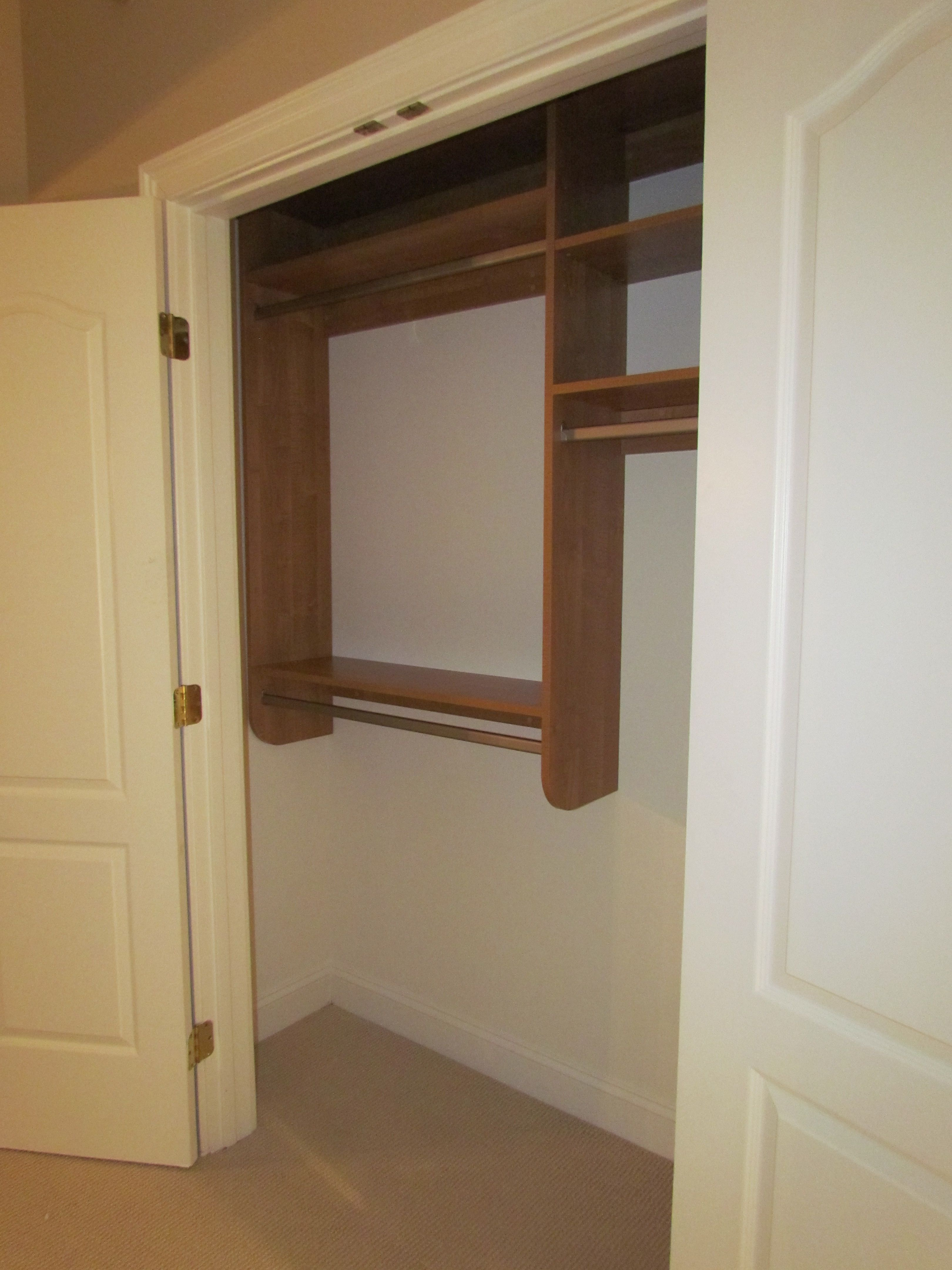 A Mix Of Double Hang And Long Hang Is A Very Functional And Affordable  Custom Closet Design.