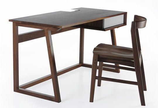 Block Desk and Quartet Chair by Shawn Sowers