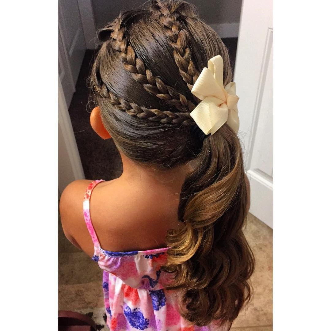 I Love That She Lets Me Try New Hairstyles This One Is A New Favorite She Says She Feels Fabulous Lo Hair Styles Little Girl Braids Kids Hairstyles