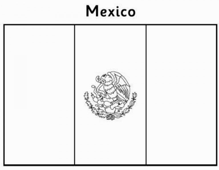 Mexican Flag Coloring Page Coloring Pages World Map Coloring Page