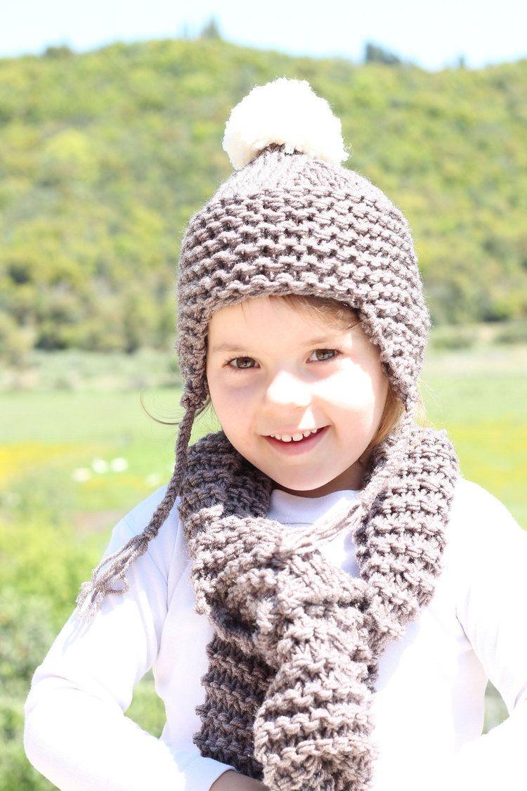 Free children's hat and scarf knitting pattern | Beginner ...