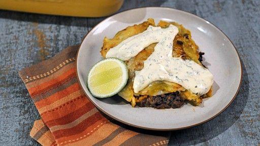 Midnight Chile Beef & Sweet Potato Enchiladas Carla Hall