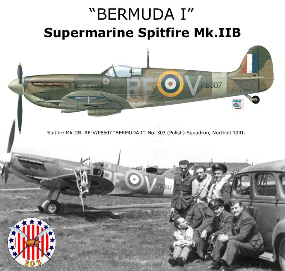 An Ii B B Bermunda I Spitfire Mk Iib Wwii Aircraft Profiles Pictures