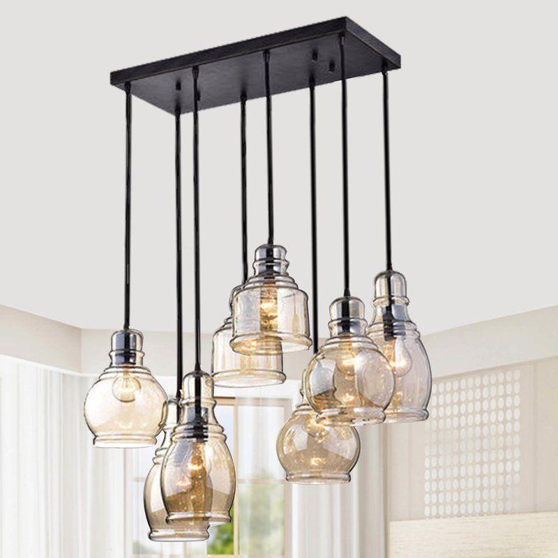 Manon 8 Light Cluster Bell Pendant Industrial Kitchen Lighting Industrial Light Fixtures Industrial Lighting Design