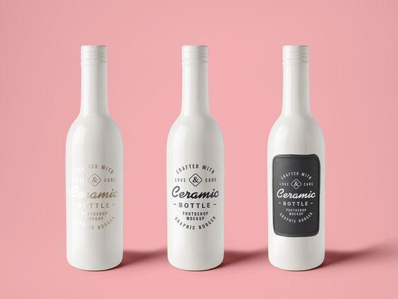 Download Ceramic Bottle Mockup Free Psd Bottle Mockup Wine Bottle Packaging Ceramic Bottle