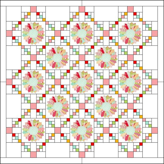 Dresden Irish Chain Quilt (Moda Bake Shop) | Colchas, Cajas y Bordado