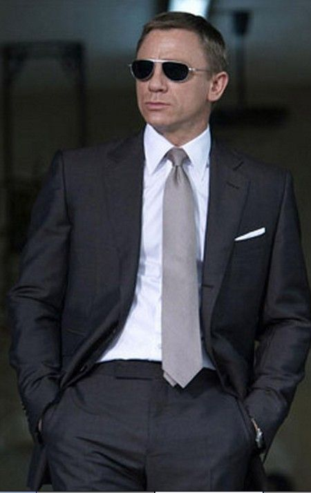 "Dark Grey Two Piece Suit Worn In James Bond movie ""Quantum of ..."