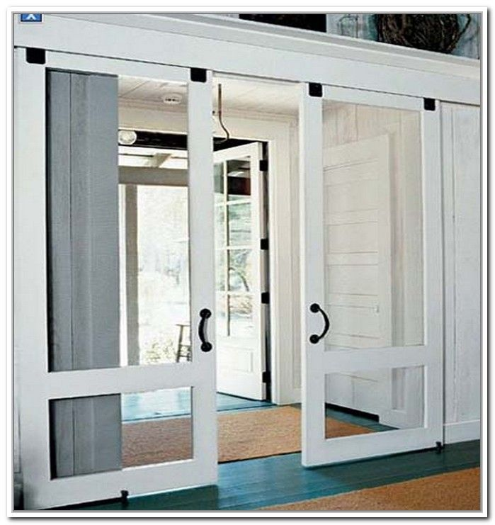 Sliding french patio doors with screens for the home for Double sliding screen door