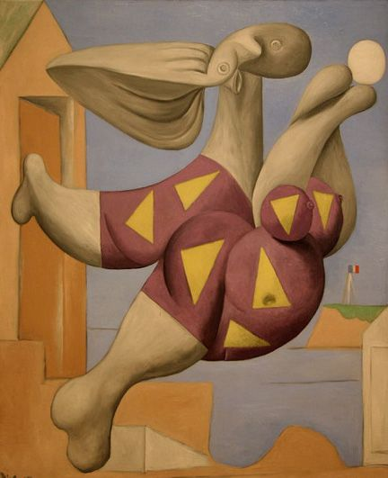 """Pablo Picasso - """"Bather with a beach ball"""". 1932"""