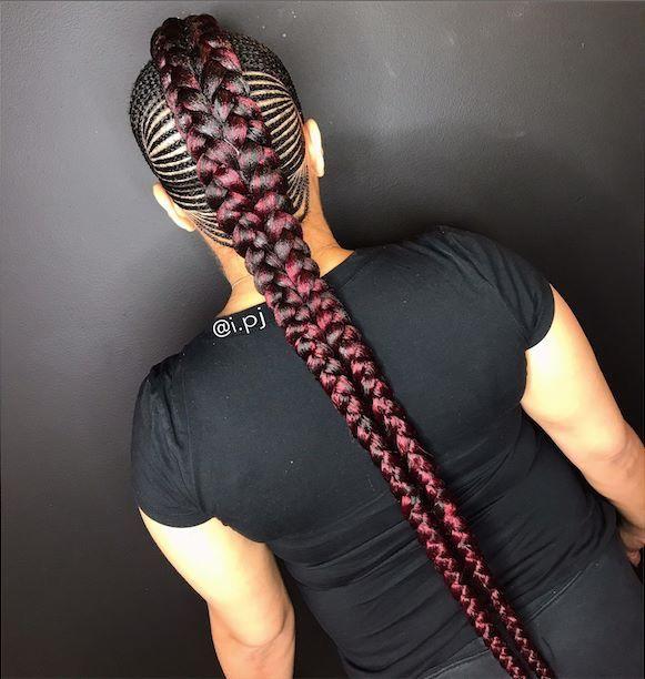 mohawk feed in braids beauty