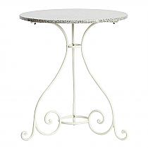Vienna Table 65cm Rd - White/Granite