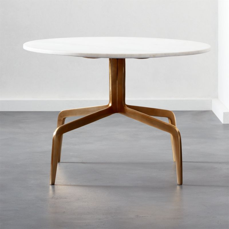 Dorset gold and marble coffee table reviews cb2