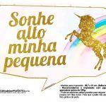 Plaquinhas Unicornio Gratis Para Imprimir Festa Do Pijama Menino