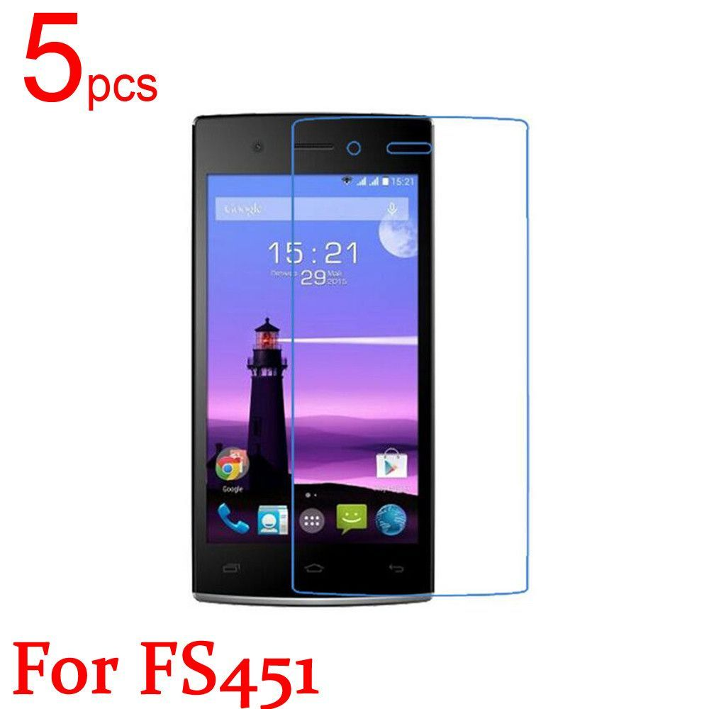 5pcs glossy Ultra Clear/Matte/Nano anti-Explosion LCD Screen Protector Film Cover For Fly FS401 402 403 451 452 551 Film +cloth