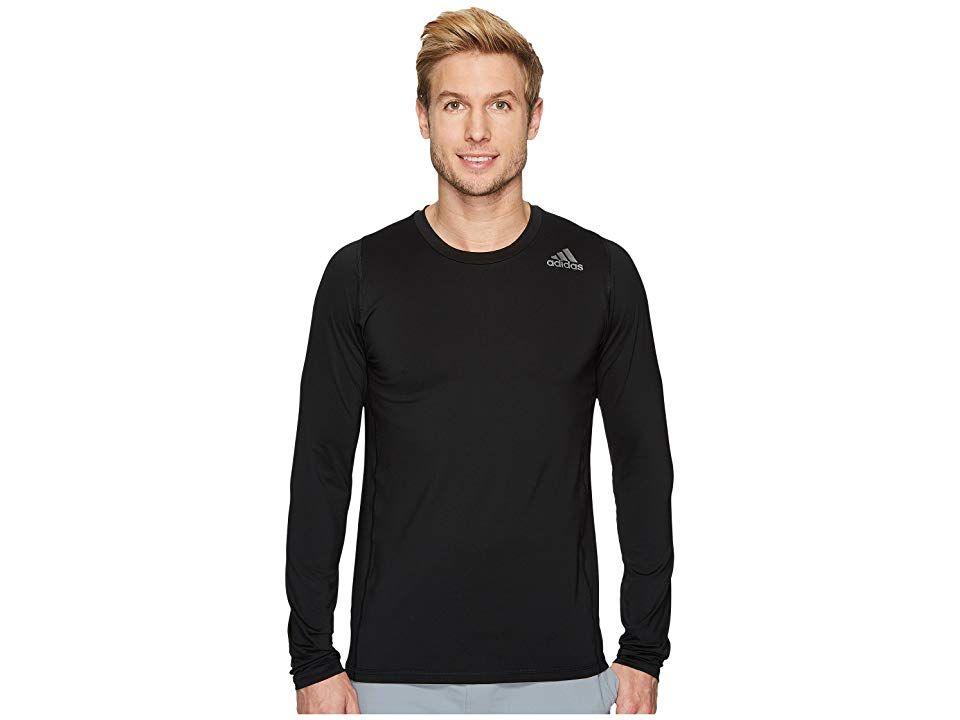 acf4b0a9d204e adidas Alphaskin Sport Fitted Long Sleeve Tee (Black) Men's Long ...