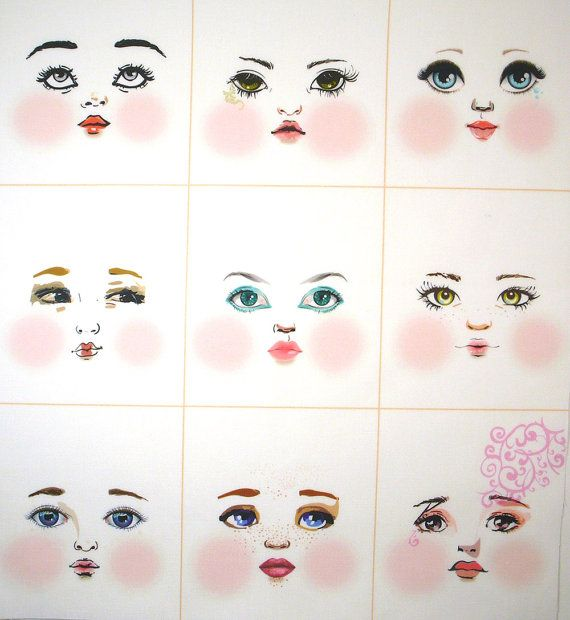 How To Paint Doll Faces On Felt