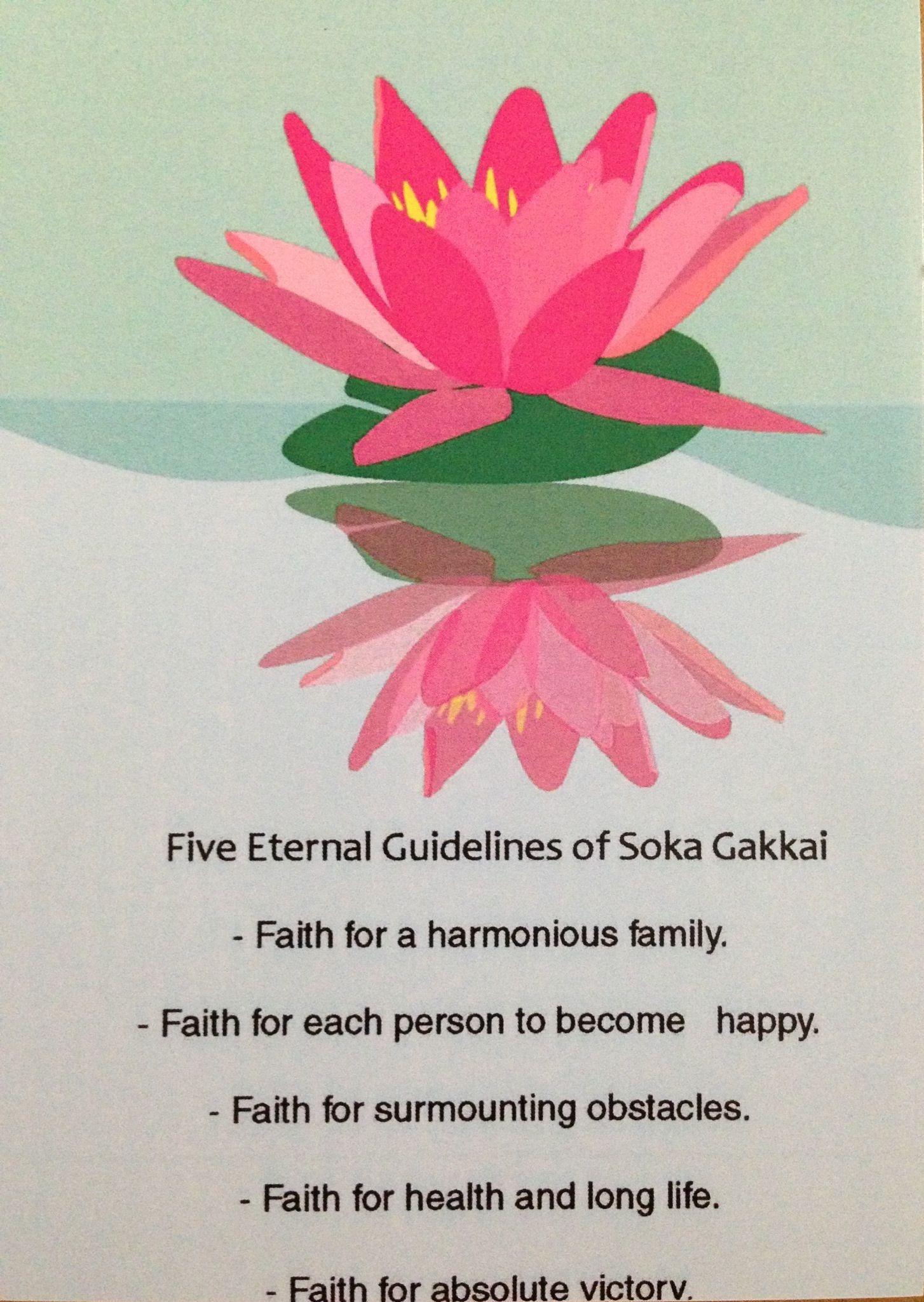 5 Eternal Guidelines Of Soka Gakkai Nichiren Daishonin
