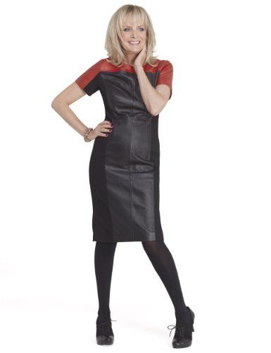 Twiggy for M&S Collection Leather Colour Block Dress in ...
