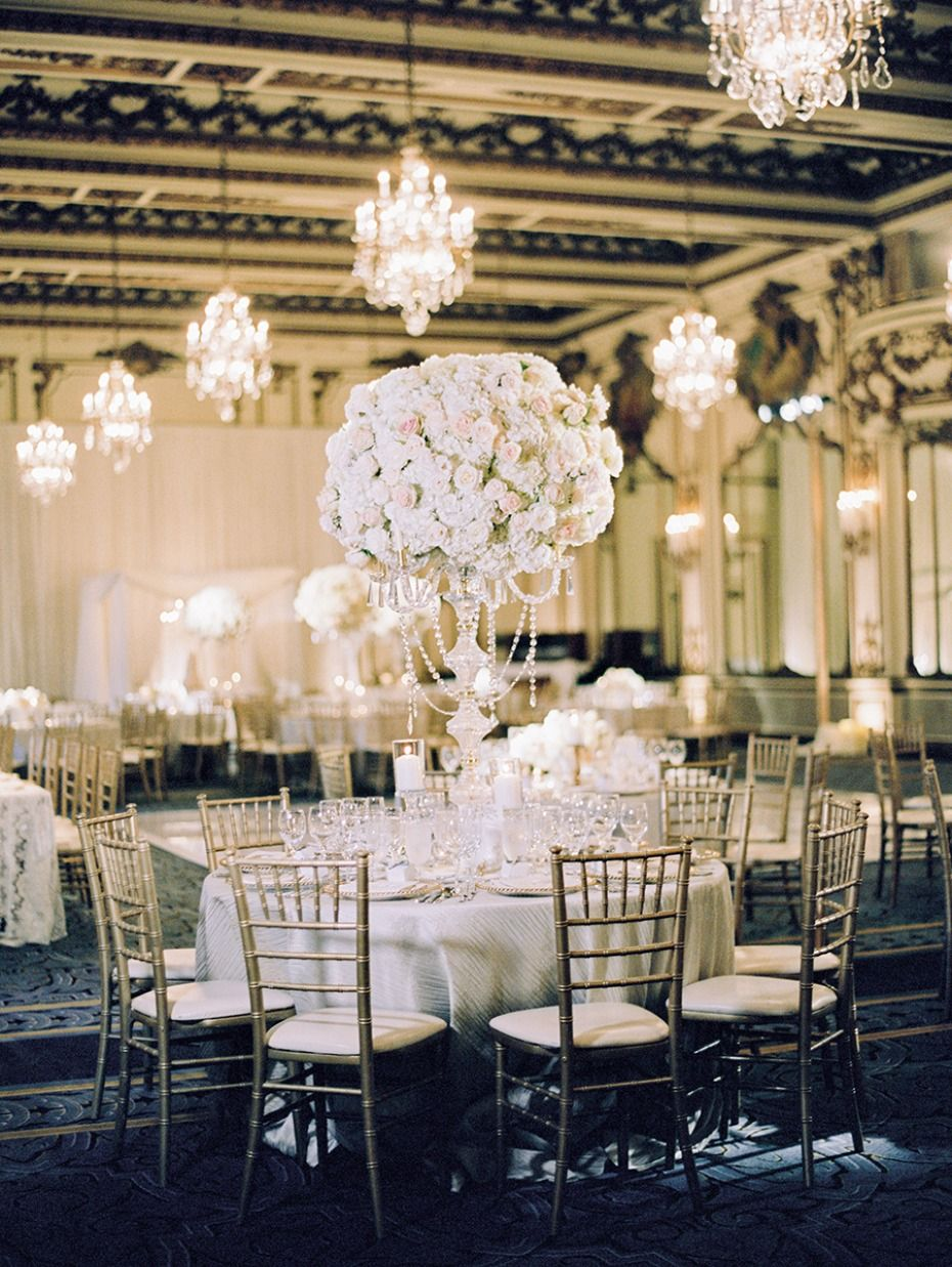 a glam gold and white wedding in san francisco | ballroom