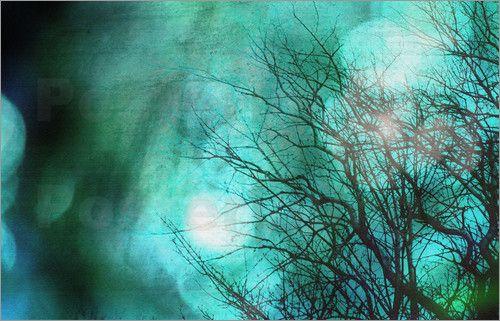 Gedankenverloren - Fotografie mit Textur: Poster & Kunstdruck von Atelier Stephanie Koehl