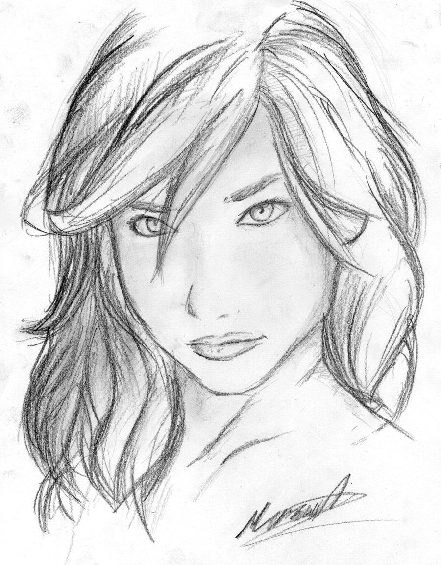 girl sketch by ~Jenova94 on deviantART | art - portraits ...  girl sketch by ...