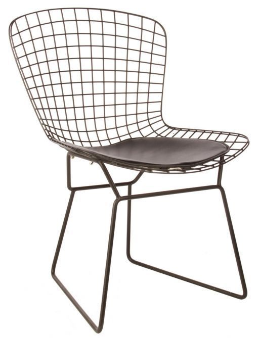 Early Harry Bertoia Knoll Mid Century Modern Wire Side Dining Chairs Eames Stuhle Wohnen