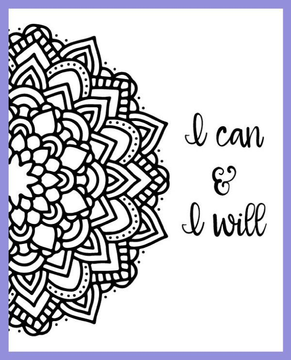 motivational mandala free coloring pages 3 design options dawnnicoledesignscom