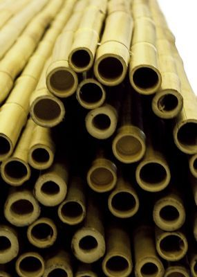 Thick White Bamboo Fencing Screening Roll 1.9m x 1.8m (6ft