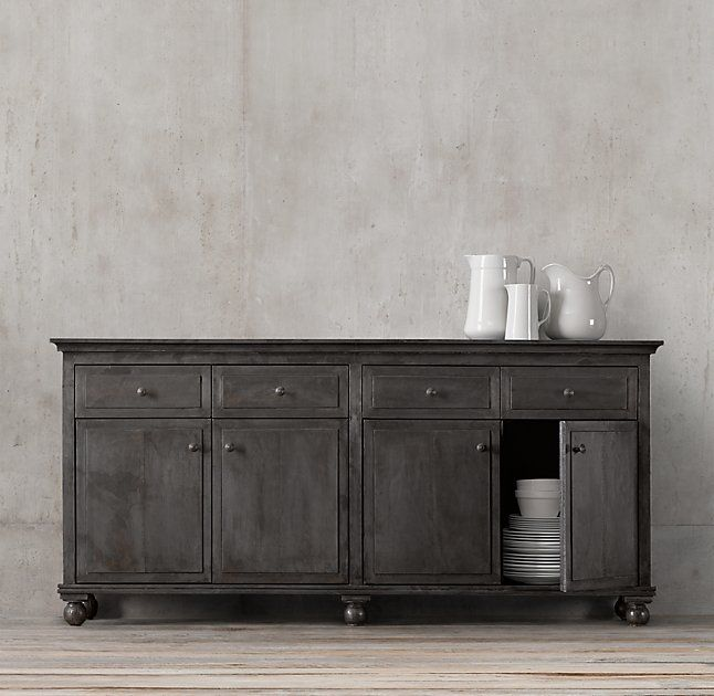 Annecy Metal Wrapped 78 Panel Large Sideboard